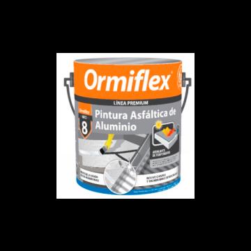 Pintura Asfáltica De Aluminio Ormiflex 8 Lata x 1 L
