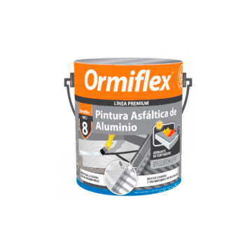 Pintura Asfáltica De Aluminio Ormiflex 8 Lata x 4 L
