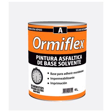 Pintura Asfáltica Ormiflex A Secado Rápido Lata x 4 L